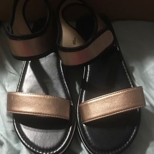 Copper Color Wedge Sandal Size 10